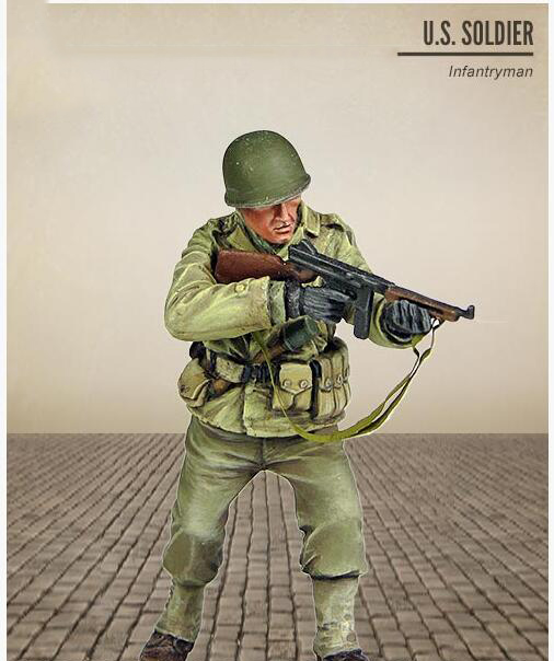 Assembly  Unpainted  Scale 1/35 Infantryman  U.S. SOLDIER    Figure Historical  Resin Model