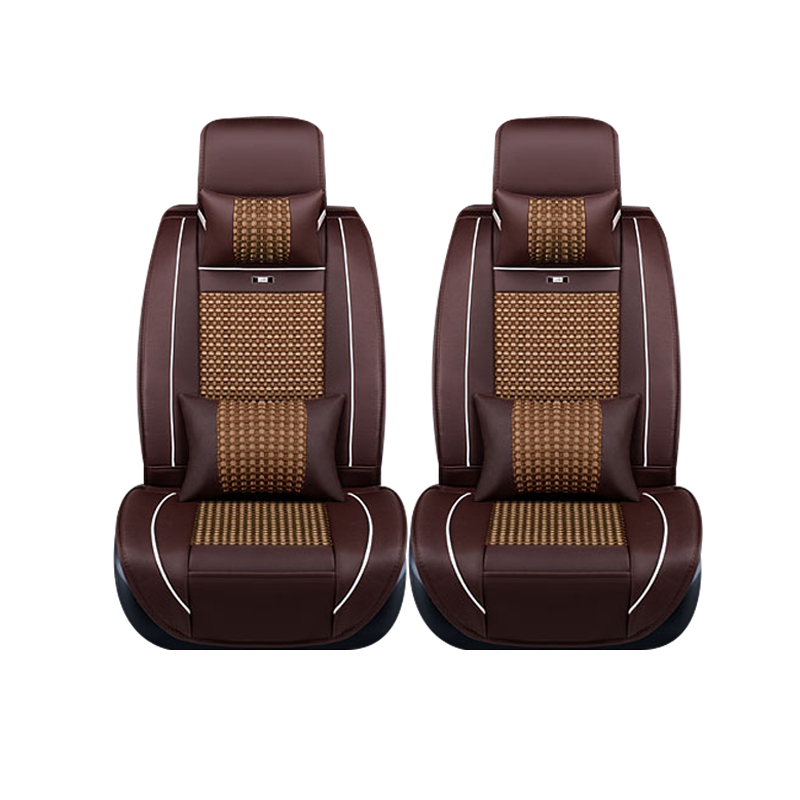 Special leather only 2 front car seat covers For Lada 110 111 112 Kalina Niva Vesta XRAY Granta car accessories car styling for renault fluence latitude talisman laguna wear resisting waterproof leather car seat covers front