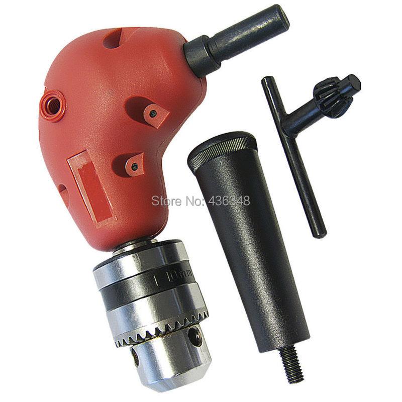 Drill Bits Heavy Duty Right Angle Drill Chuck Bit Corner Adapter Screwdriver for Electric Drill Electric Screwdriver Handle (90 Degree)