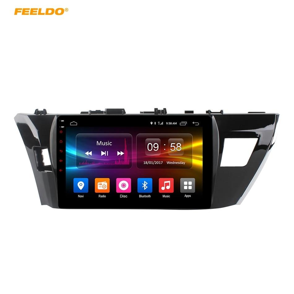 FEELDO 10.1 inch Android 6.0 (64bit) Octa Core DDR3 2G/32G/ FDD 4G Car DVD GPS Radio Head Unit For Toyota Corolla 2014-2015