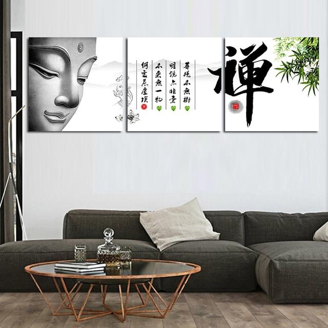 Boeddha schilderij muur foto voor woonkamer schilderij olieverf doek  boeddha muur canvas poster movie home decor in Boeddha schilderij muur foto  voor ...