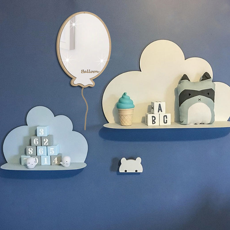 Simple Fish Shape Mirror Sticker Wall Mounted Acrylic ...