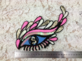 2 pcs/set 20*21cm Sequined charming eye Embroidered Sew On Patches For Clothes Garment badge Quality Applique DIY Accessory