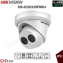 Hikvision Original English 3MP H.265 Ultra-Low Light Security IP Camera DS-2CD2335FWD-I Mini Turret CCTV IP Camera H.265 IP67