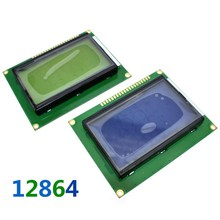 12864 128x64 Dots Graphic Blue Color Backlight LCD Display Module for arduino raspberry pi