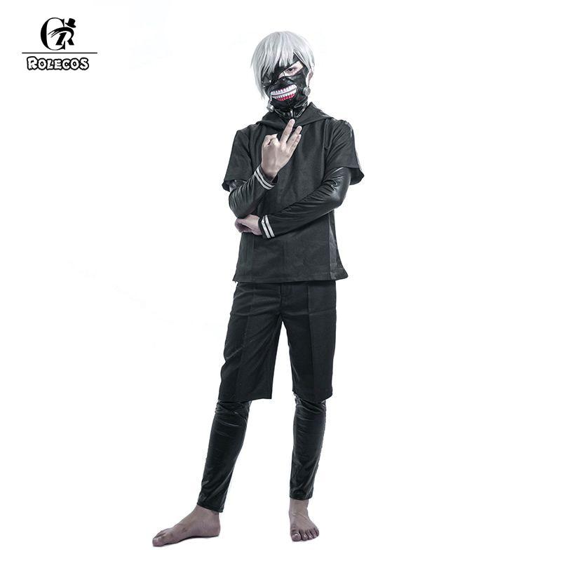 ROLECOS Tokyo Ghoul Cosplay Costumes Hoodies Black Uniform