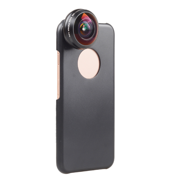 APEXEL Mobile Phone Lens 238 degree super fisheye lens, 0.2X Wide angle lens with back case and clip for iPhone 6 6s plus 7 1