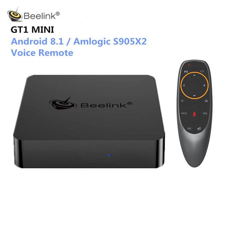 Beelink GT1 MINI Smart TV Box Android 8.1 Amlogic S905X2 Vocale Telecomando Set Top Box 4 K 4 GB 32 GB/64 GB Bluetooth Media Player