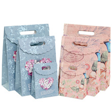 10 Pcs/lot Multifunction European-style pansy paper bag Creative gift Recyclable Bag Fashionable Gift Paper Bags