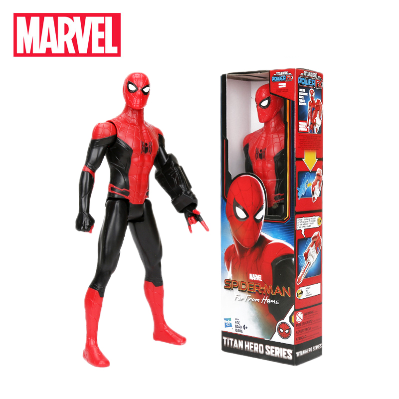 Action-Figure Model-Toys Titan Spiderman Marvel Morales Miles Collectible Black PVC 29cm