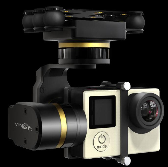 bilder für Auf Lager Neue Version Feiyu Fy Mini 3d Pro Gimbal für Flugzeuge Hubschrauber Drohnen