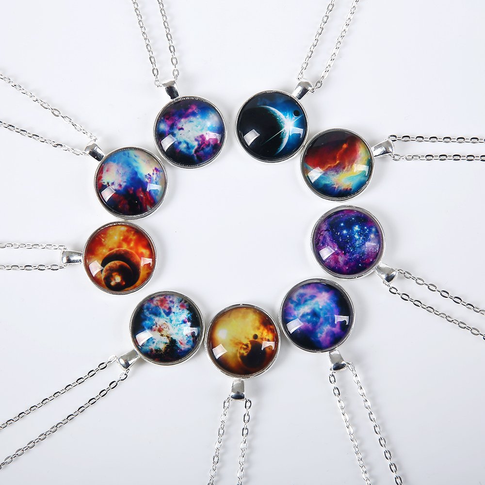 2016 new fashion galaxy necklaces nebula space glass cabochon 2016 new fashion galaxy necklaces nebula space glass cabochon pendants brand jewelry for women men best aloadofball Images