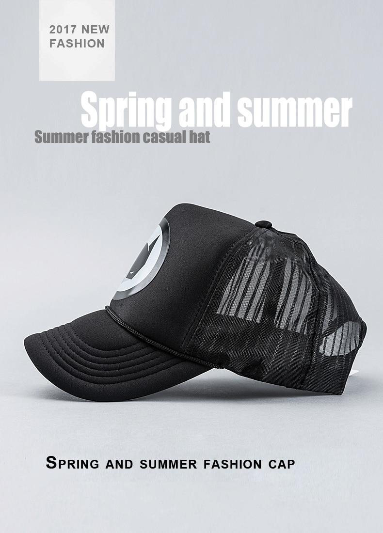c615ba51fed Caps men 2017 New arrival europe truckers caps spring summer sun hat women  mesh hats simple black baseball cap 58cm adjustable