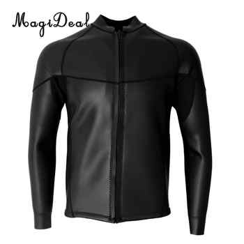 MagiDeal 2mm Premium Neoprene Men\'s Wetsuits Top Long Sleeve Front Zipper Diving Surfing Swimming Snorkel Suit Dive Skins - DISCOUNT ITEM  20% OFF Sports & Entertainment
