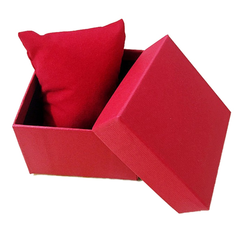 Watch Boxes Jewellry Gift Box Paper Cardboard With Pillow Storage Case Box Colors