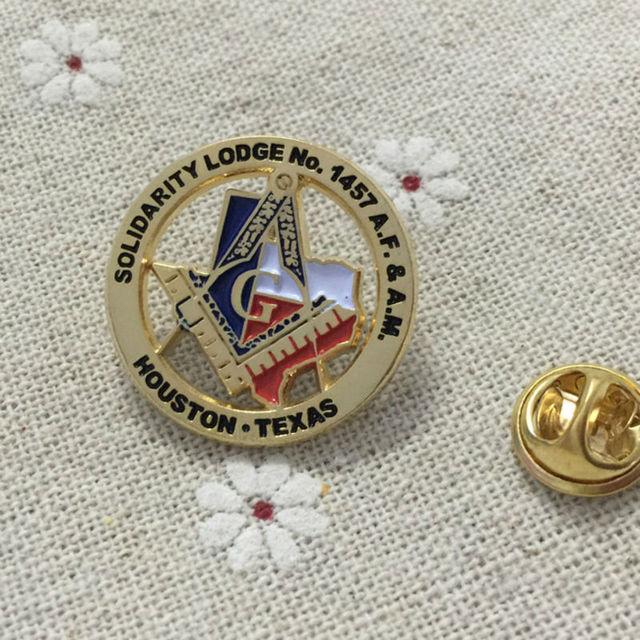 aae6b4cc5921 200pcs wholesale masonic lapel pin souvenir pin and brooches metal crafts freemasonry  free masons houston texas solidarity lodge
