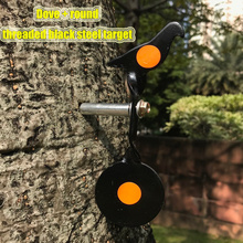 Threaded Black Steel Dove Shooting Target  + Round for Purpose