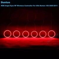 RGB Angel Eyes Multi Color LED Car Headlight Ring DRL Wireless RF For Alfa Romeo 159