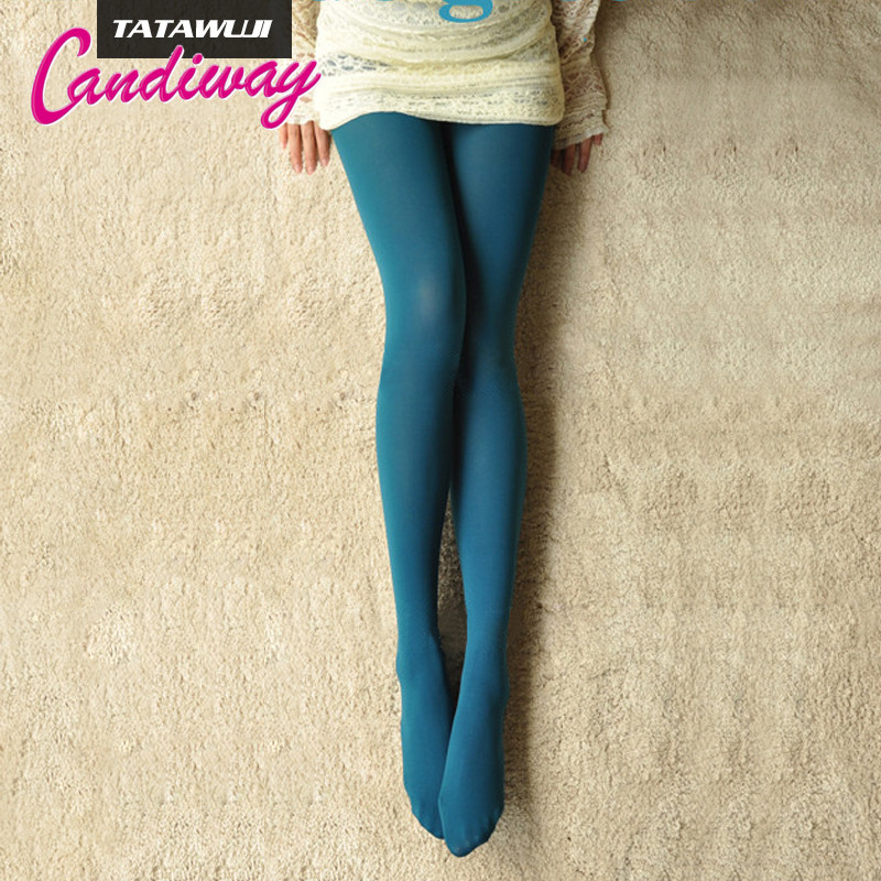 Womens Fashion Tights Spring Autumn Stockings  Lake Blue Femme Sexy Pantyhose Thin Tights