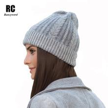 [Rancyword] Factory Direct Winter Hats For Women Rabbit Wool Knitting Warm Beanies Skullies Girls pompom Gorros RC1223