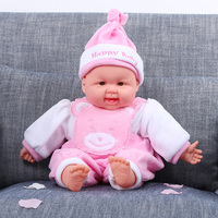 2016 New Plastic Baby Cute Dolls Simulation Intelligent Early Children Toy Doll Toys