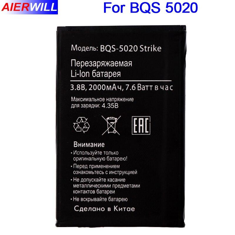 BQS-5020 Batterie Für BQ Strike BQS 5020 BQS-5020 Strike Batterie Bateria Akkumulator AKKU 2000 mAh