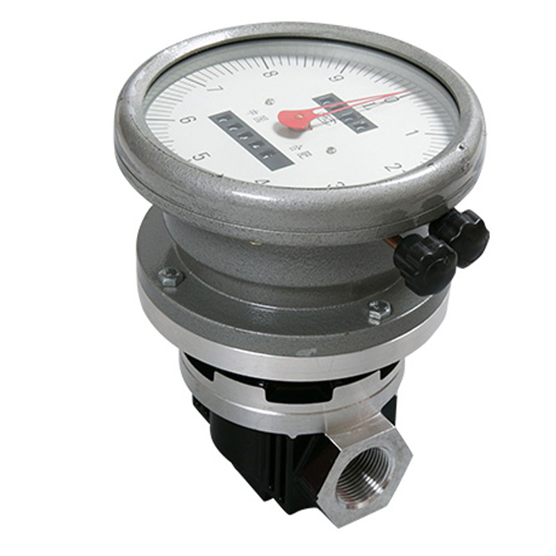 цена на LC-25 1inch Pointer flowmeter, Diesel / gasoline / heavy oil kerosene flow meter 1 inch High precision Oval gear flow meter