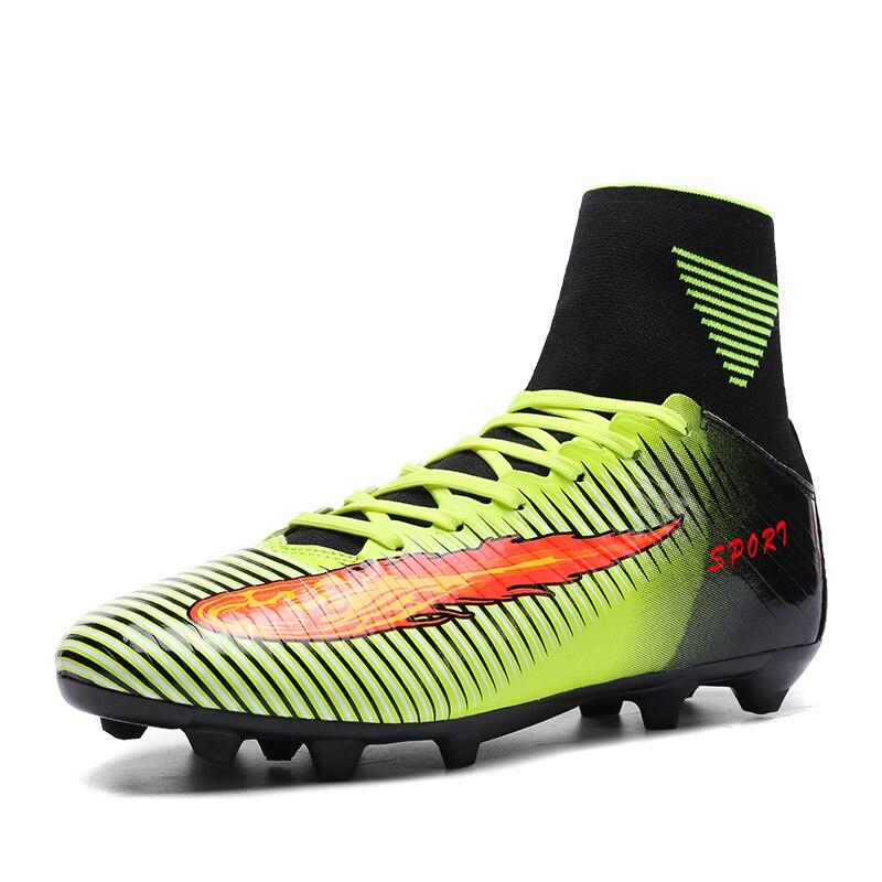 Mans Chaussures de Football avec de Longues Pointes Nouvelle Arrivée marque Bottes Chaussure Originale Chaude Hommes Démarrage D'origine Haute Top Traning Football hommes
