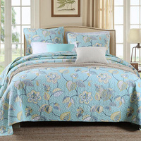 100% Cotton Quilted Farmhouse/Retro/Luxury style Quilt Set 3pcs High Quality Brief Style 230*250cm Size Bedspread Coverlet