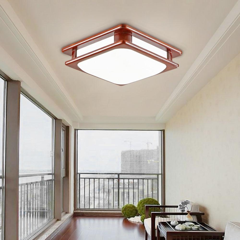 Led 110 v 220 v restaurant holz deckenleuchten moderne deckenleuchte schlafzimmer wohnzimmer chinesischen wohnkultur lichter