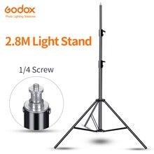 "Godox 110 ""280 cm 1/4 스크류 라이트 스탠드 삼각대 사진 스튜디오 softbox 비디오 플래시 우산 반사판 조명 softbox"