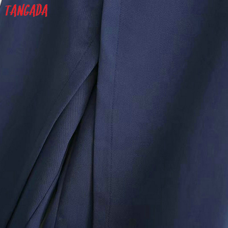 Tangada women elegant navy pants 19 ladies casual harem pants cotton cool korean fashion trousers mujer XD449 14