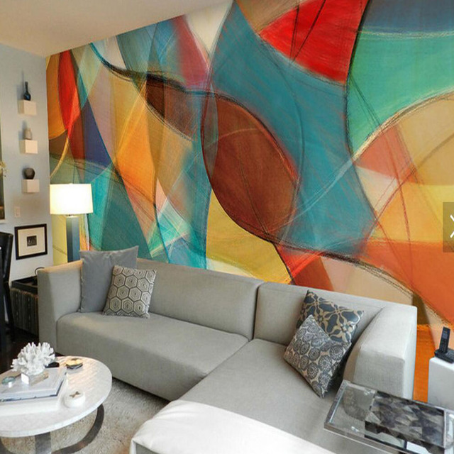 3D Abstract Wallpaper Leaves Colorful Mural For Living Room TV Background Wall Decor Photo Contact