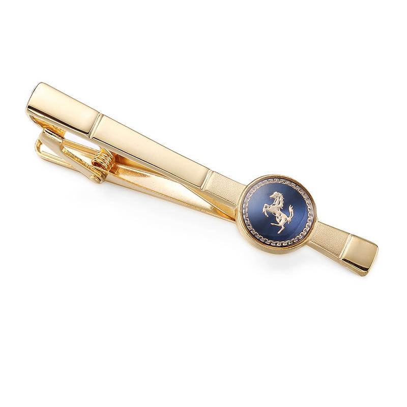 High quality fashion business tie clip brand horse tie clip men's wedding shirt tie pin accessories tie versace tie