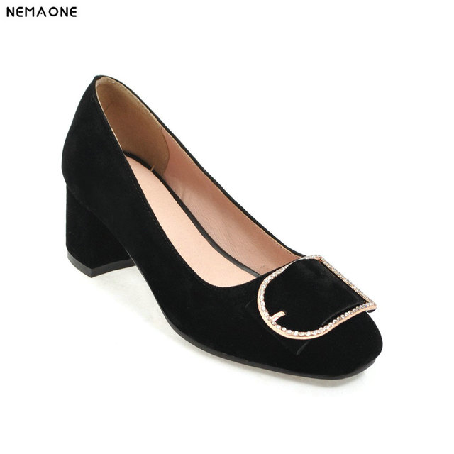 Hoher Verbraucher NEMAONE China karree high Heels Schuhe