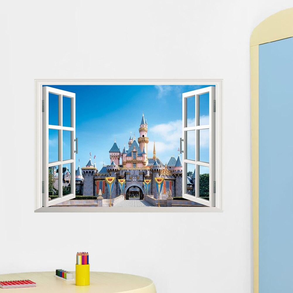 Stickers Pour Fenetre Chambre ⃝le nouveau 3d faux fenêtre ville paysage salon chambre