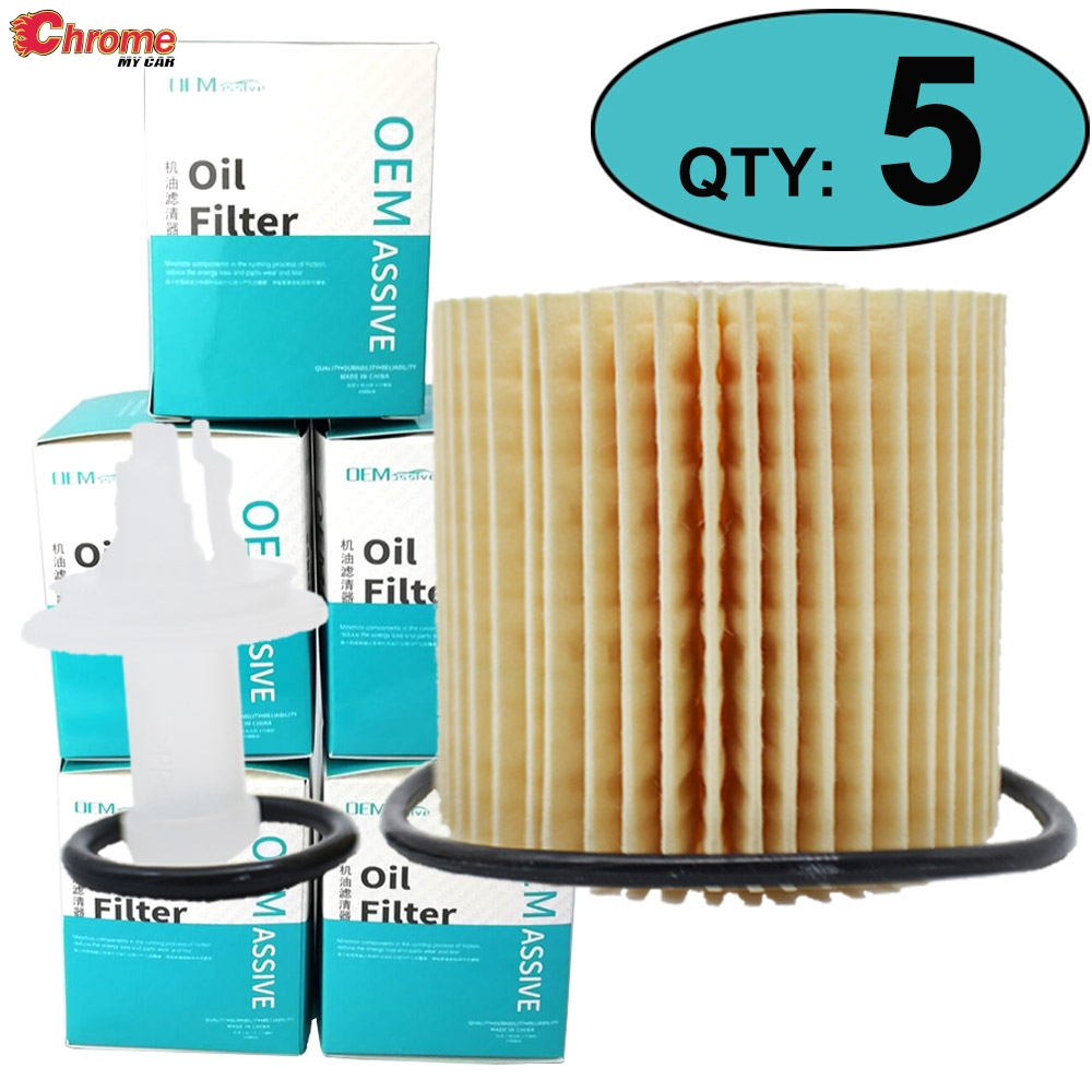 5Pack 04152-YZZA1 Engine Oil Filter For Toyota Camry Lexus ES350