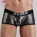 XUBA Sexy black snake scales charm temptation male panties male trunk boxer underwear