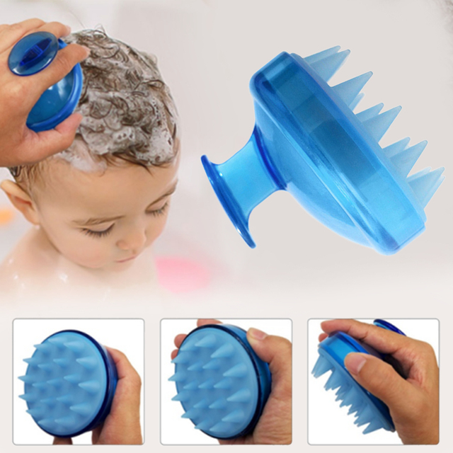 1 piezas Spa pelo de cepillo de silicona champú peine de dientes anchos de lavado de pelo peine masaje en el cuero cabelludo de cepillo suave cabeza cuerpo masaje