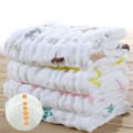 Soft Cartoon Baby Bath Towel Cotton Newborn Wash Cloth Infant Absorbent 4 Pcs Feeding Stuff Baby Face Towel Cotton Cute 70A0181