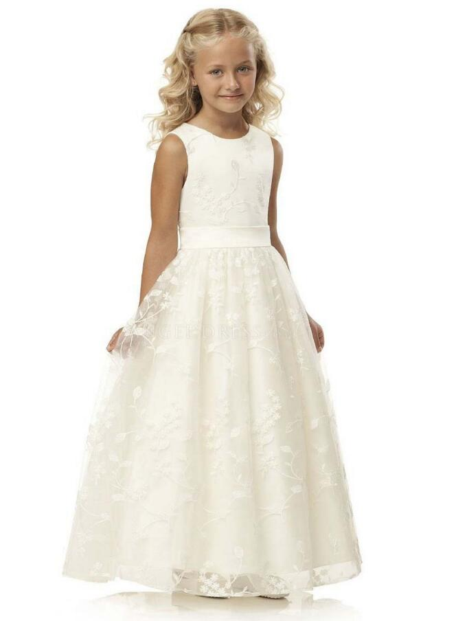 2018 Real Picture Flower Girl Dresses For Weddings Ball Gown Sleeveless Tulle Lace Beaded First Communion Dresses Little Girl2018 Real Picture Flower Girl Dresses For Weddings Ball Gown Sleeveless Tulle Lace Beaded First Communion Dresses Little Girl