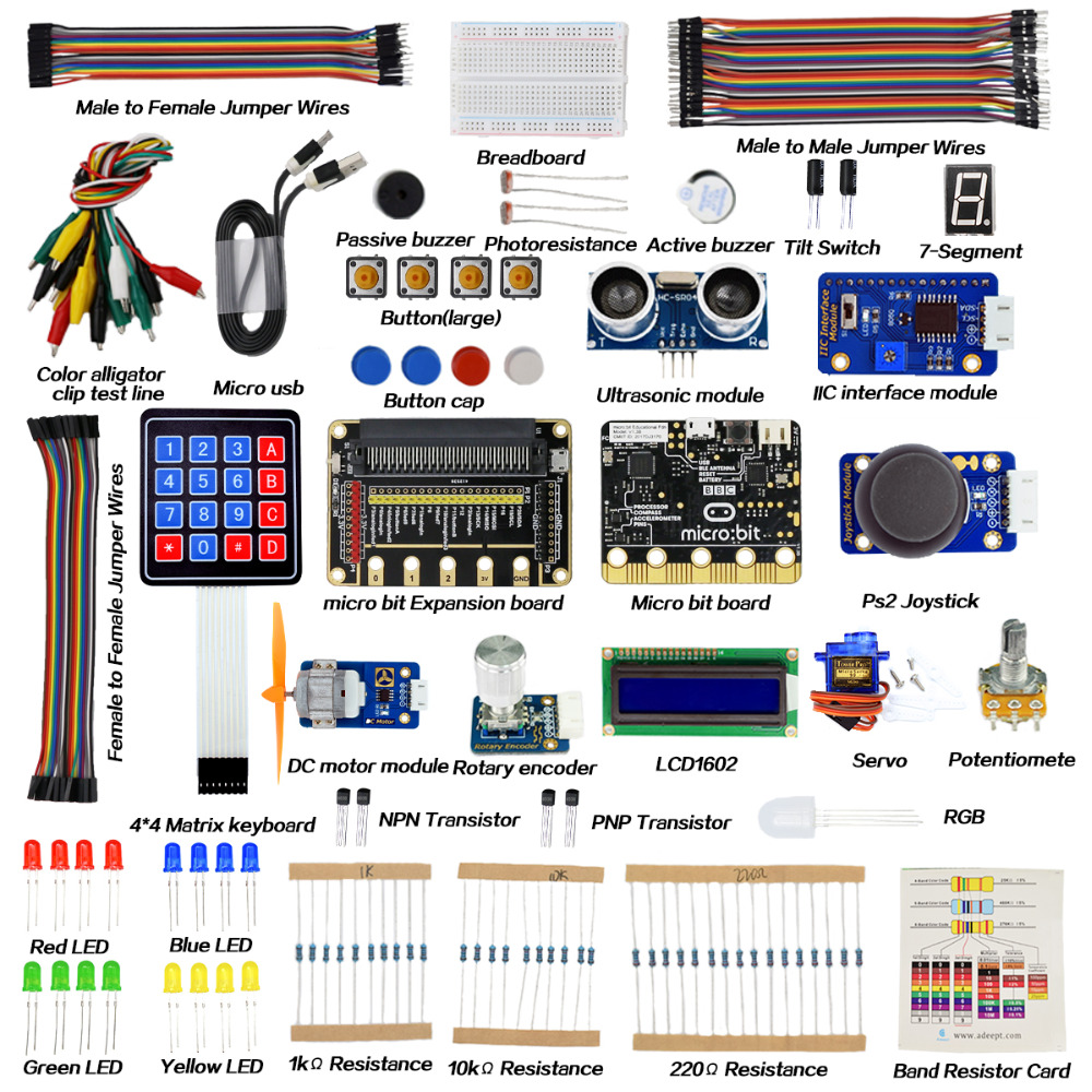 Adeept BBC Micro:bit Starter Kit Electronic Kit for Micro:bit with Tutorial starter for mercury outboard 50 859170t1 50 859377t 50 884044t 50 884045t 50 888160t