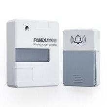 Timbre inalámbrico pantun con luz nocturna sin batería, timbre inteligente con luz Led de 100 240V, timbre de puerta con botón a prueba de agua