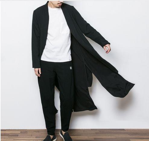 China Style Mens Kimono Jacket Male Spring Cardigan Coat