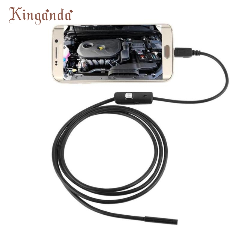 Ecosin2 6 Adjustable LED IP67 Waterproof 5M 7mm Lens Endoscope Inspection Camera For Android Phone Webcams 17mar17