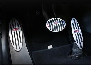 Image 5 - Auto Zubehör für R60 Mini Cooper S R55 R56 R60 R61 F54 F55 F56 F60 Aluminium Fußstütze Gas Bremse Kupplung pedal Abdeckung F56 F60 F55