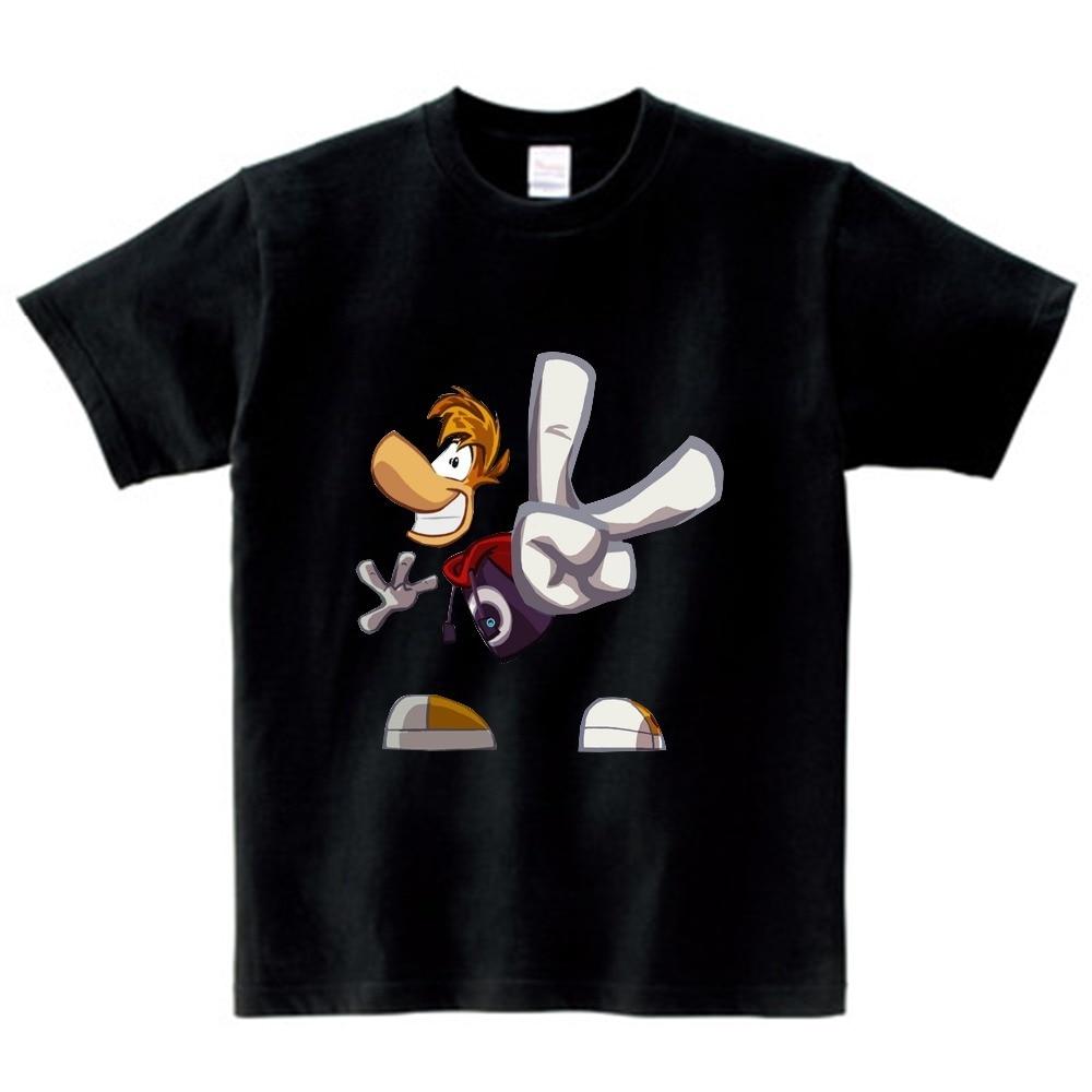 Boys and Girls Cartoon T shirt Rayman Legends Adventures Game Print T-shirt children Funny Clothes Kids Multi-color t shirt  NN 4