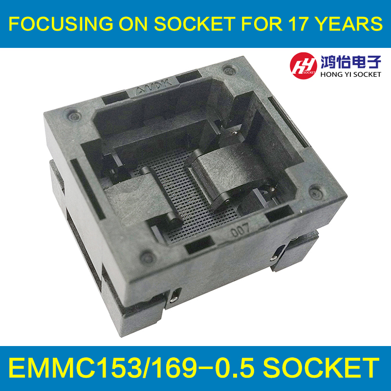 BGA series socket burn in test and programming test for BGA package IC chips by this link can help you find right BGA adapter gd32f103 gd32l103 stm32f stm32l lqfp64 ic test socket programming burn block