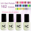 4pcs/lot Gel Nail Polish UV&LED Shining Colorful 162 Colors 5ML Long lasting soak off Varnish cheap Manicure New Color UV Gel