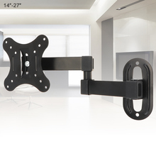 Universal 10KG Adjustable TV Wall Mount Bracket Flat Panel Frame Support 15 Degrees for 14-27 Inch LCD LED Monitor Pan